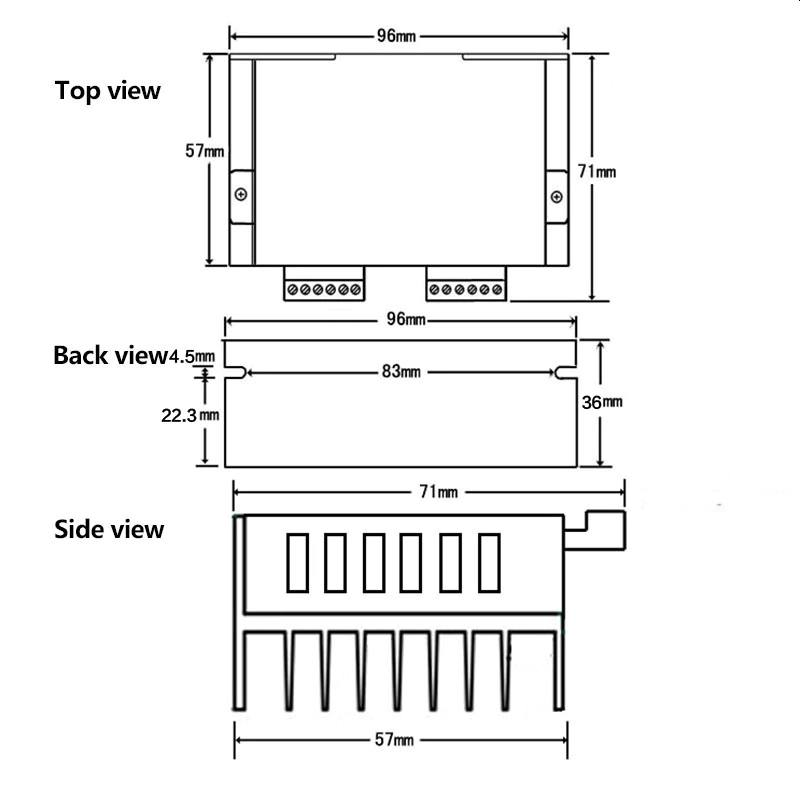 Sterownik CNC silnika krokowego TB6600 4A 9-42V