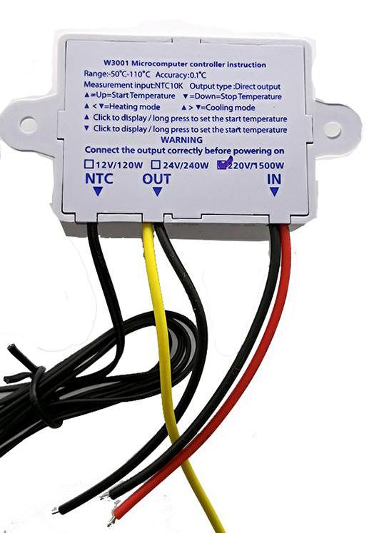 Termostat regulator temperatury XH-W3001 230V 10A