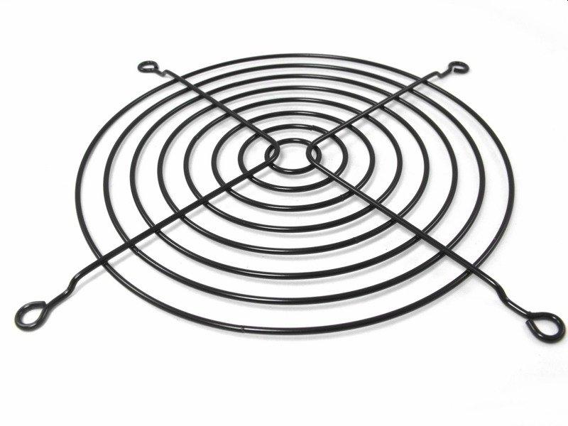 Osłona kratka wentylatora 120x120 czarna metalowa