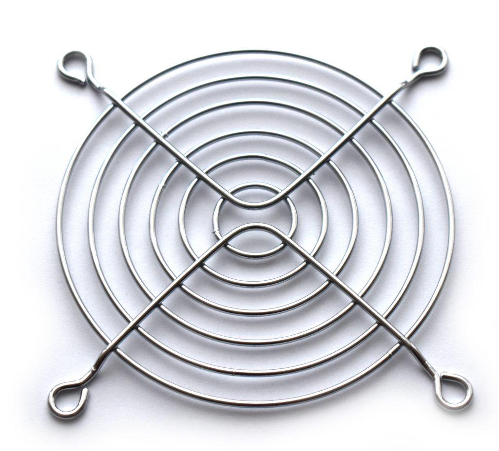 Osłona kratka grill wentylatora 92x92 metalowa